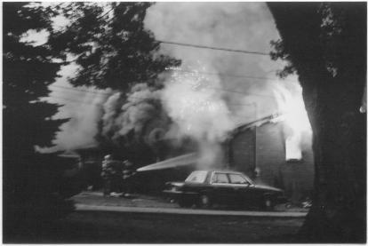 house fire sparks